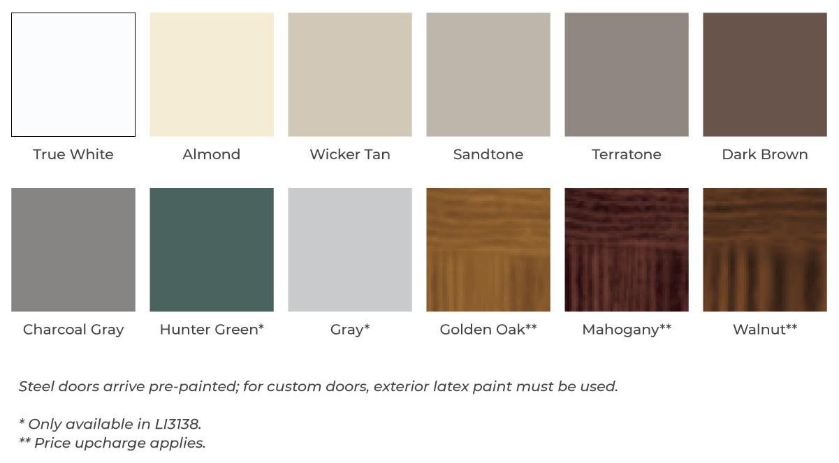 garage door color options